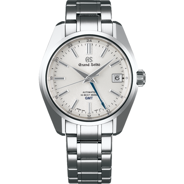 "Grand Seiko Automatic Hi Beat GMT Silver ""Mt. Iwate"" Dial (2019) - The Luxury Well"