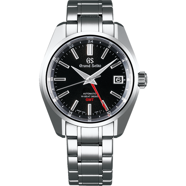 "Seiko Grand Seiko Automatic Hi Beat GMT ""Mt. Iwate"" Black - The Luxury Well"