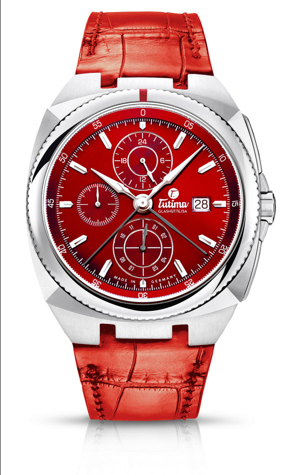 Tutima Glashuette Saxon One RED - The Luxury Well