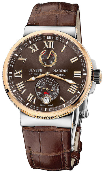 Ulysse Nardin Marine Chronometer Manufacture Stainless Steel & Rose Gold - The Luxury Well