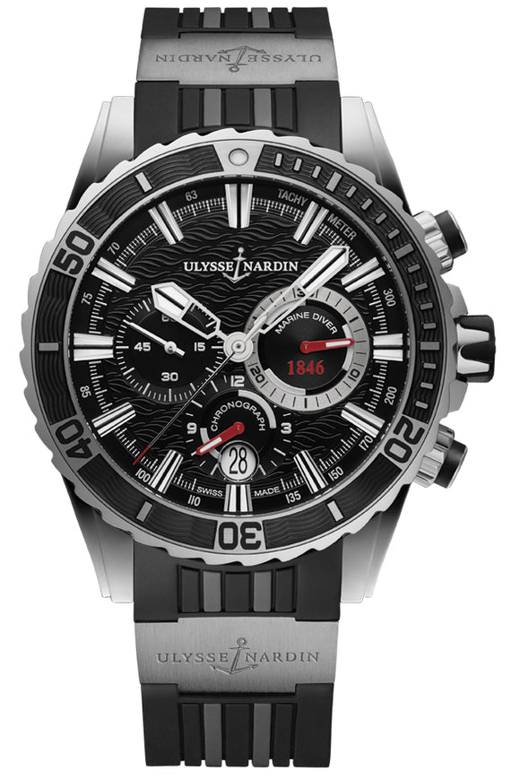 Ulysse Nardin Marine Diver Chronograph Manufacture Stainless Steel - The Luxury Well