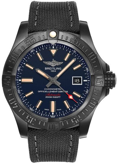 Breitling Avenger Blackbird Titanium Blue 48mm Dial Limited Edition - The Luxury Well