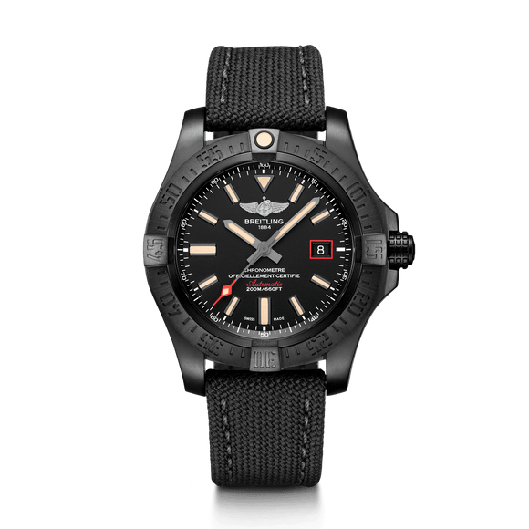 Breitling Avenger Blackbird Black Titanium 44mm - The Luxury Well