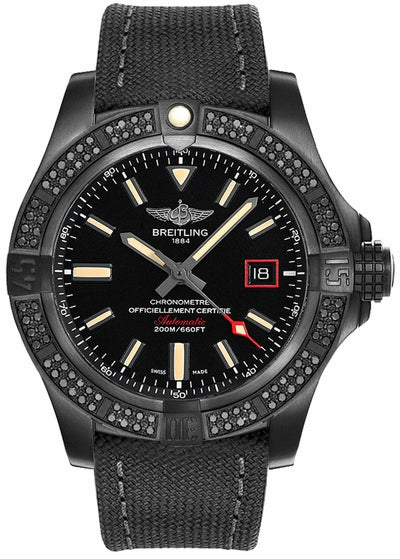Breitling Avenger Blackbird Titanium Volcano Black 44mm Dial - The Luxury Well