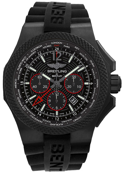 Breitling Bentley GMT Light Body Black 49mm Dial - The Luxury Well