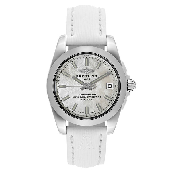 Breitling Galactic White Mother-of-Pearl 36mm Dial - The Luxury Well