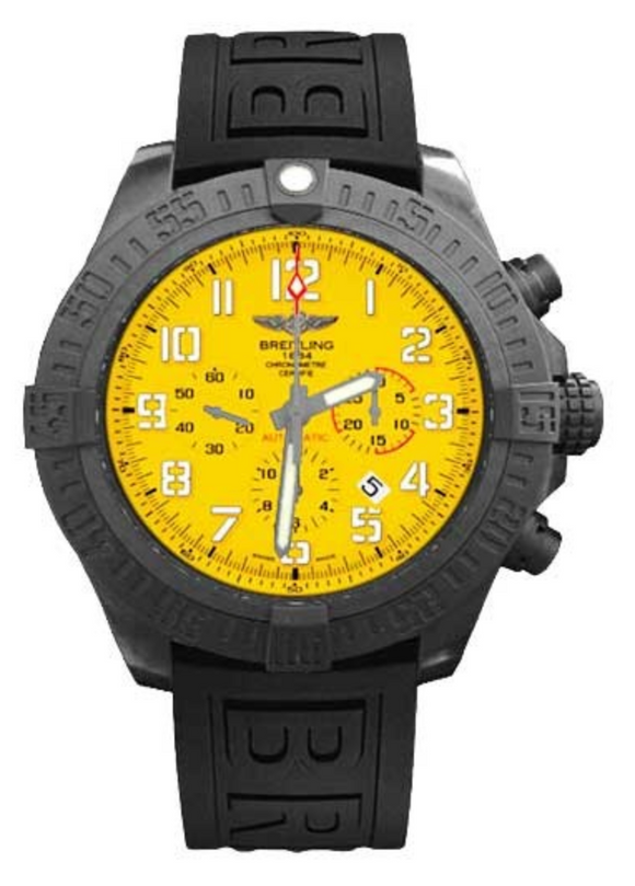 Breitling Avenger Hurricane 50mm Yellow Dial