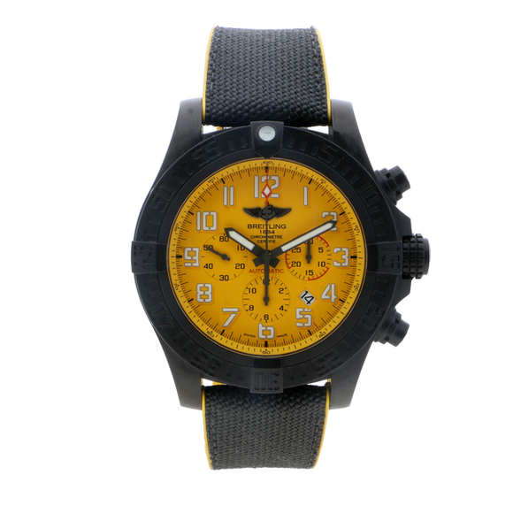 Breitling Avenger Hurricane 50mm Yellow Dial - The Luxury Well