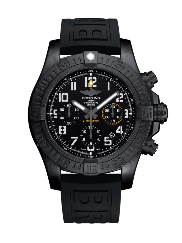 Breitling Avenger Hurricane 45 Breitlight - Volcano Black 45mm Black - The Luxury Well