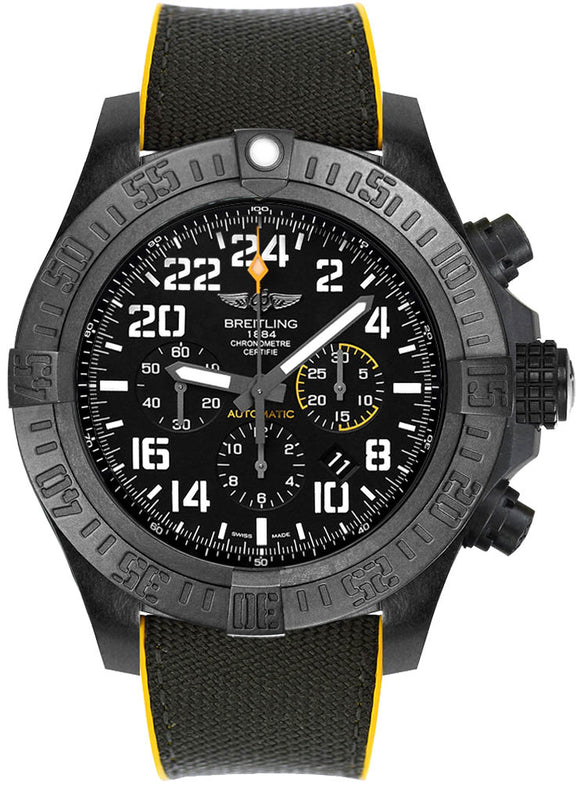 Breitling Avenger Hurricane Black 50mm Dial - The Luxury Well