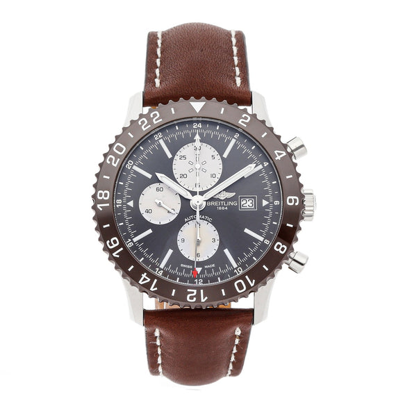 Breitling Chronoliner Black 46mm Dial - The Luxury Well