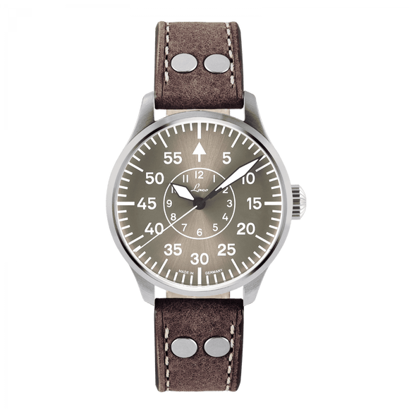 Laco Pilot Watches Basic AACHEN Taupe Dial 42mm - The Luxury Well