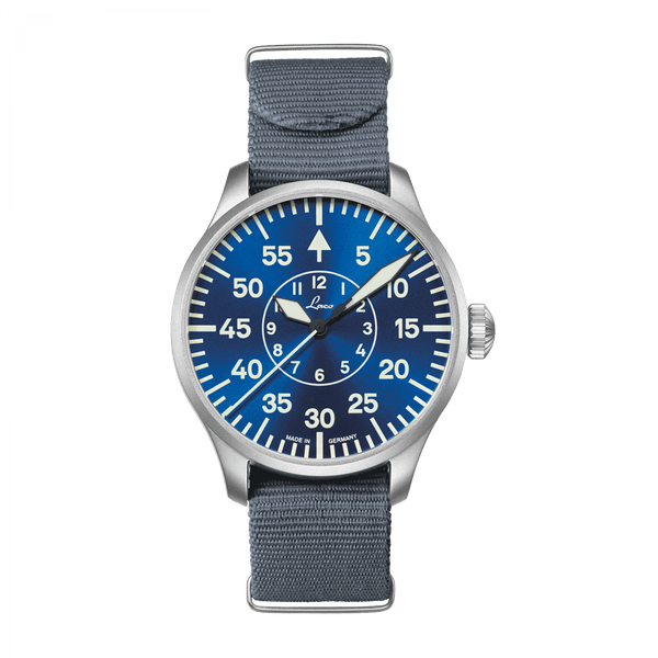 Laco Pilot Watch Basic AACHEN BLAUE STUNDE 42mm - The Luxury Well