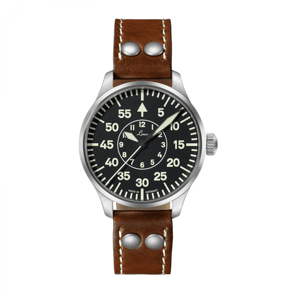 Laco Pilot Watch Basic AACHEN Black Dial 39mm - The Luxury Well