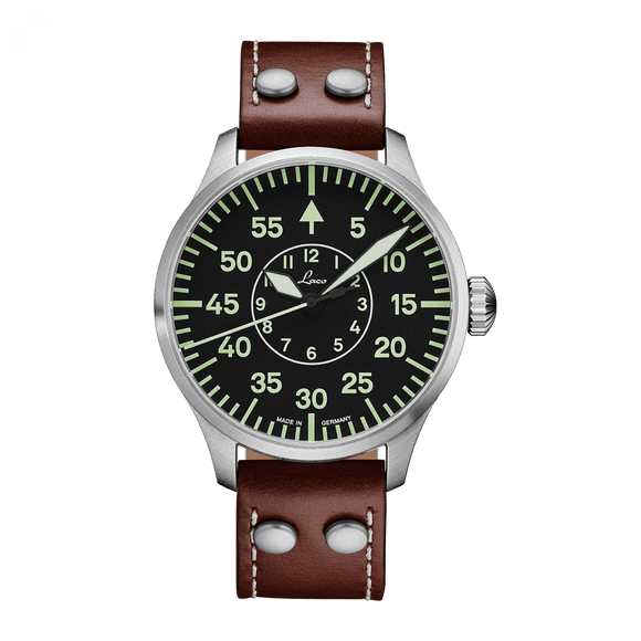 Laco Pilot Watch Basic AACHEN Black Dial 42mm - The Luxury Well