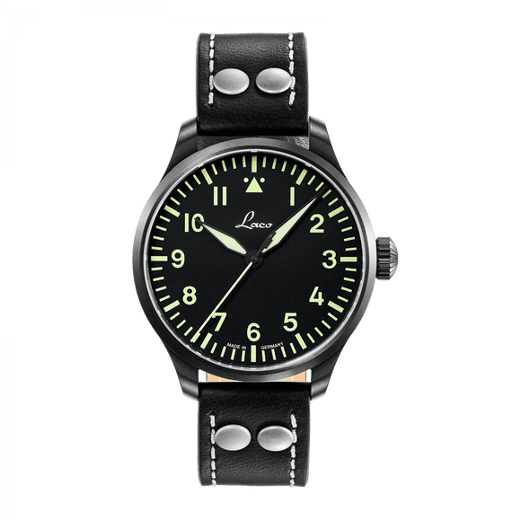 Laco Pilot Watch Basic ALTENBURG Black Dial 39mm - The Luxury Well