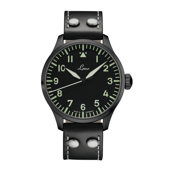 Laco Pilot Watch Basic ALTENBURG Black Dial 42mm - The Luxury Well