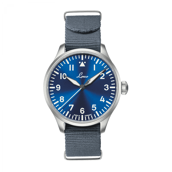 Laco Pilot Watch Basic AUGSBURG BLAUE STUNDE 39mm - The Luxury Well