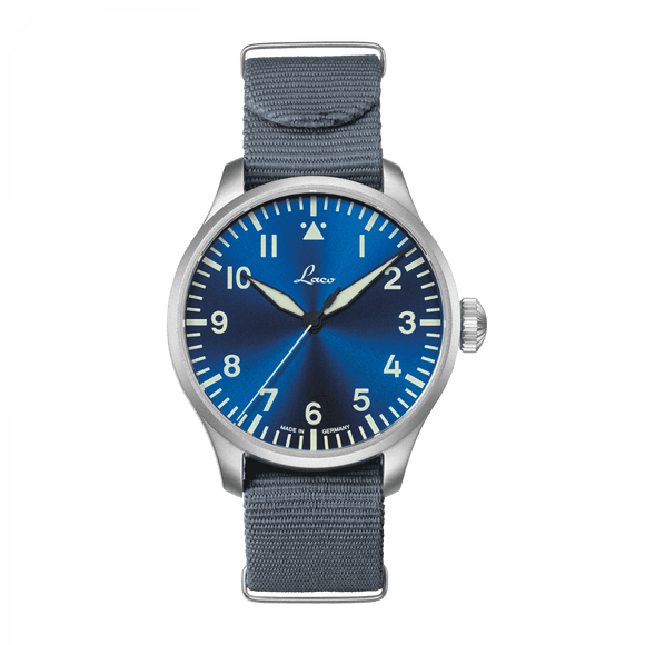 Laco Pilot Watch Basic AUGSBURG BLAUE STUNDE 42mm - The Luxury Well