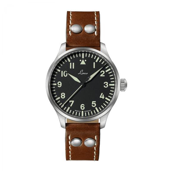 Laco Pilot Watch Basic AUGSBURG Black Dial 39mm - The Luxury Well