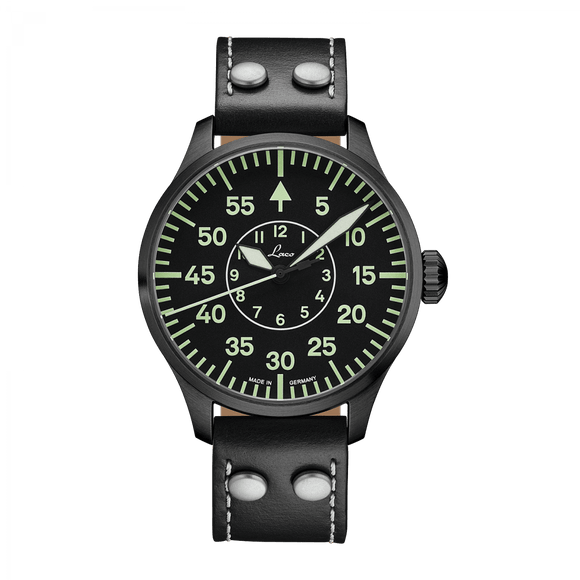 Laco Pilot Watch Basic BIELEFELD Black Dial 42mm - The Luxury Well