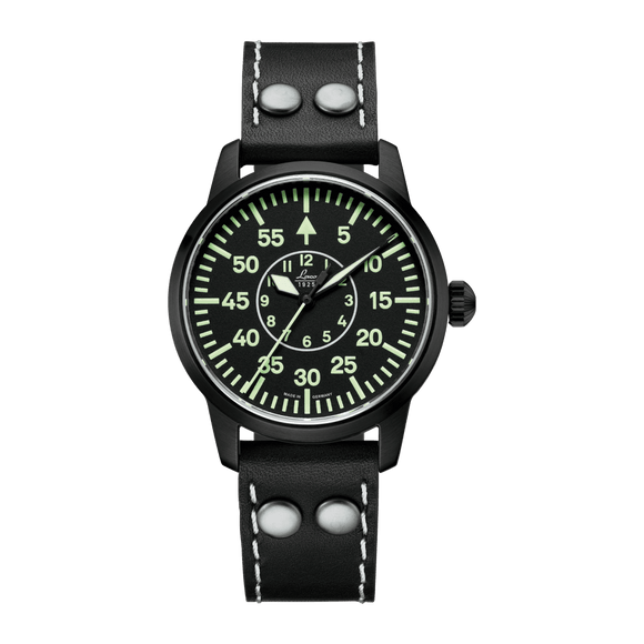 Laco Pilot Watch Basic BIRMINGHAM Black Dial 36mm - The Luxury Well