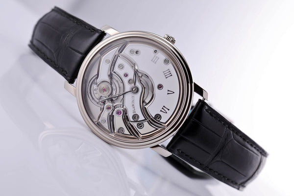 Blancpain Villeret Mouvement Inversé White Gold white dial - The Luxury Well