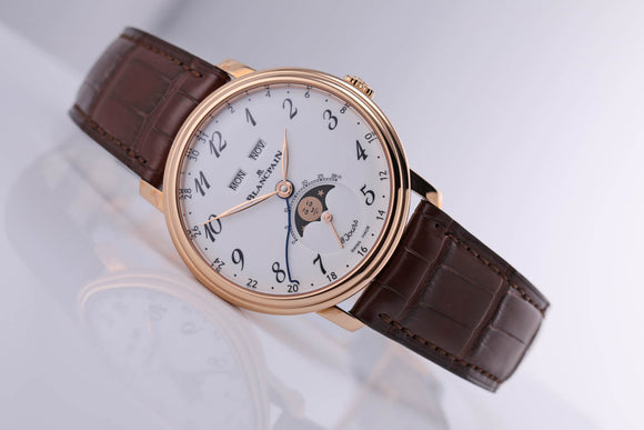 Blancpain Villeret Quantième Complete Calendar 8 Days Rose Gold - The Luxury Well