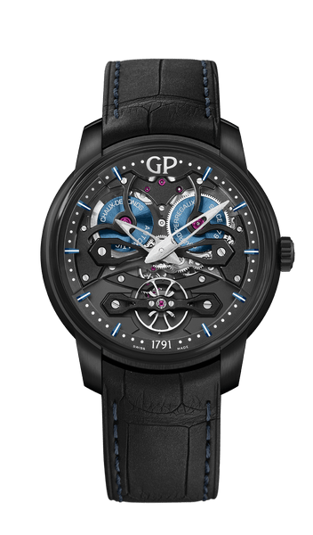 Girard Perregaux Neo Bridges Automatic Titanium skeleton dial - The Luxury Well