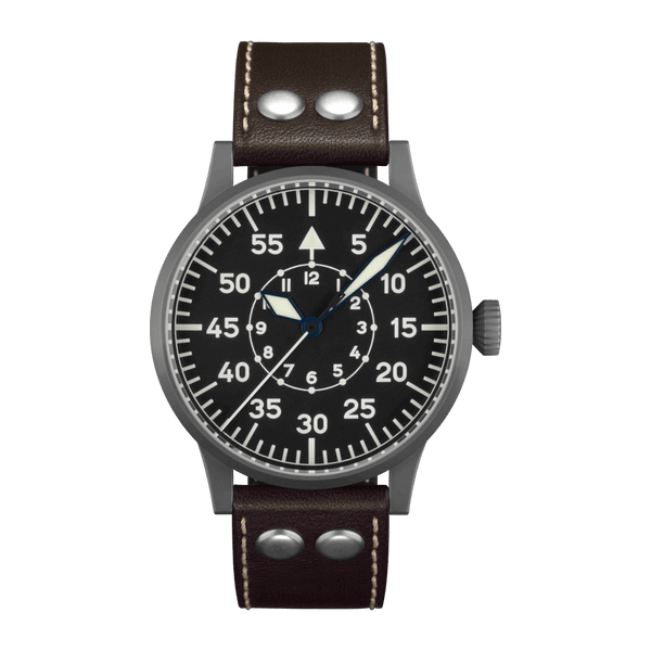 Laco Pilot Watch Original FRIEDRICHSHAFEN Black Dial 45mm - The Luxury Well