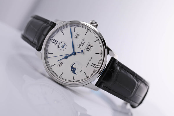 Glashütte Original Senator Excellence Perpetual Calendar steel silver dial - The Luxury Well