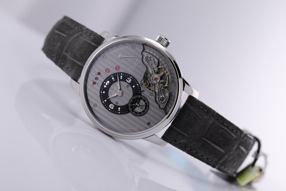 Glashütte Original PanoInverse XL steel grey dial - The Luxury Well