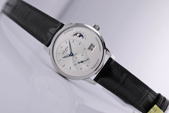 Glashütte Original PanoMaticLunar 40mm Steel - The Luxury Well
