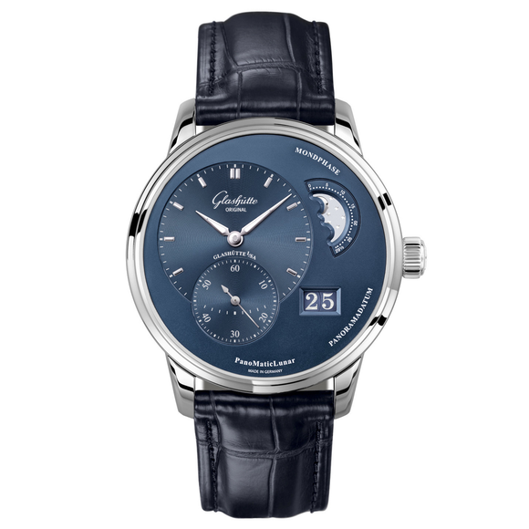 Glashütte Original PanoMaticLunar Steel Blue Dial - The Luxury Well