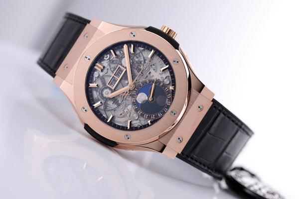Hublot Classic Fusion Aerofusion Moonphase 18kt Rose Gold - The Luxury Well