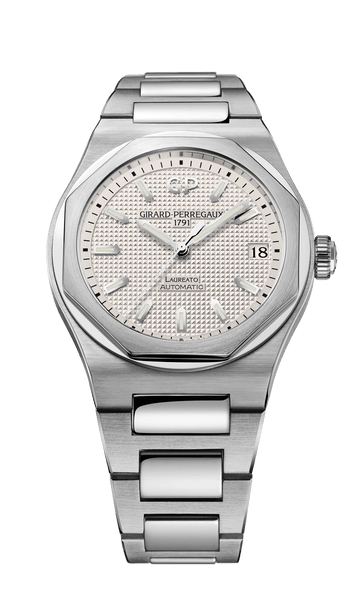 Girard Perregaux Laureato 42mm Steel Silver Dial Automatic - The Luxury Well