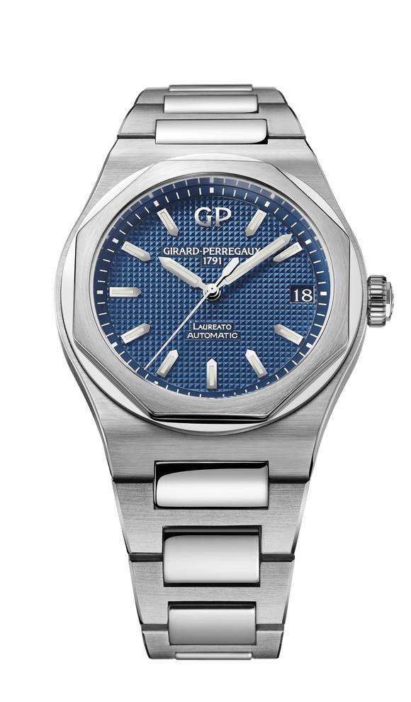 Girard Perregaux Laureato 42mm Steel Blue Dial Automatic - The Luxury Well