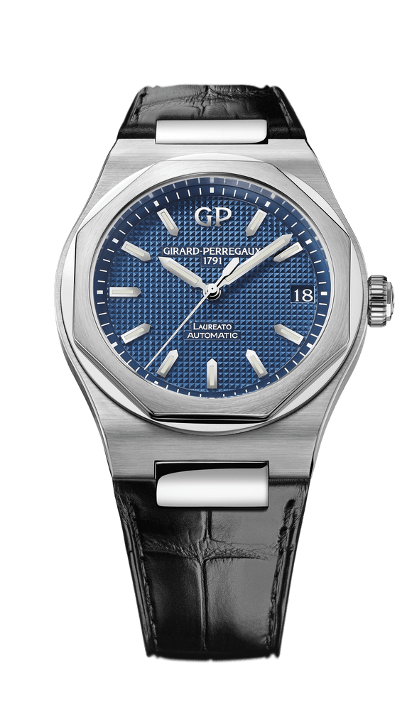 Girard Perregaux Laureato Automatic 42mm blue dial - The Luxury Well
