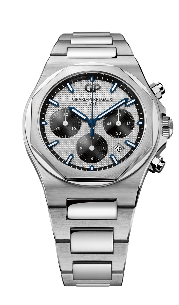 Girard Perregaux Laureato Chronograph 42mm silver dial - The Luxury Well