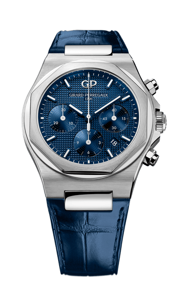 Girard Perregaux Laureato Chronograph 42mm blue dial - The Luxury Well
