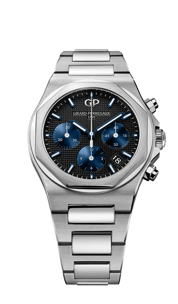 Girard Perregaux Laureato Chronograph 38mm black dial - The Luxury Well