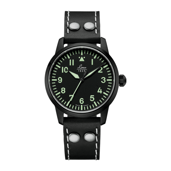 Laco Pilot Watch Basic LONDON Black Dial 36mm - The Luxury Well