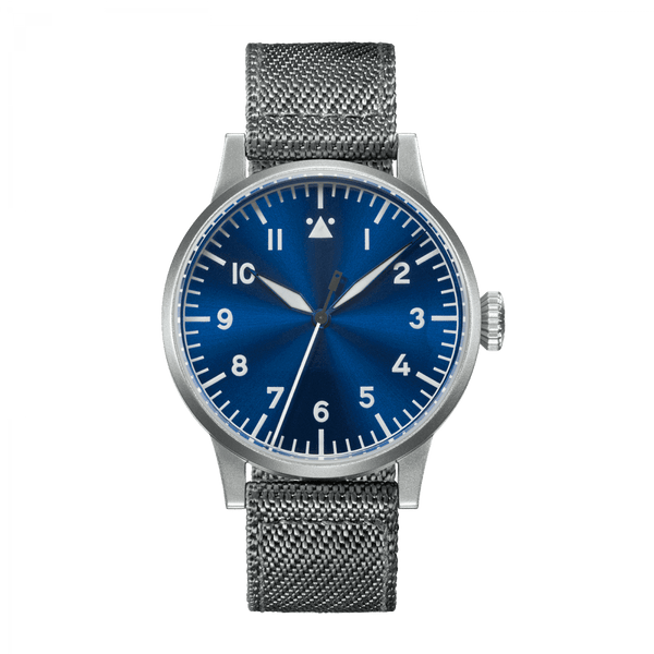 Laco Pilot Watch Original MÜNSTER BLAUE STUNDE Blue Dial 42mm - The Luxury Well