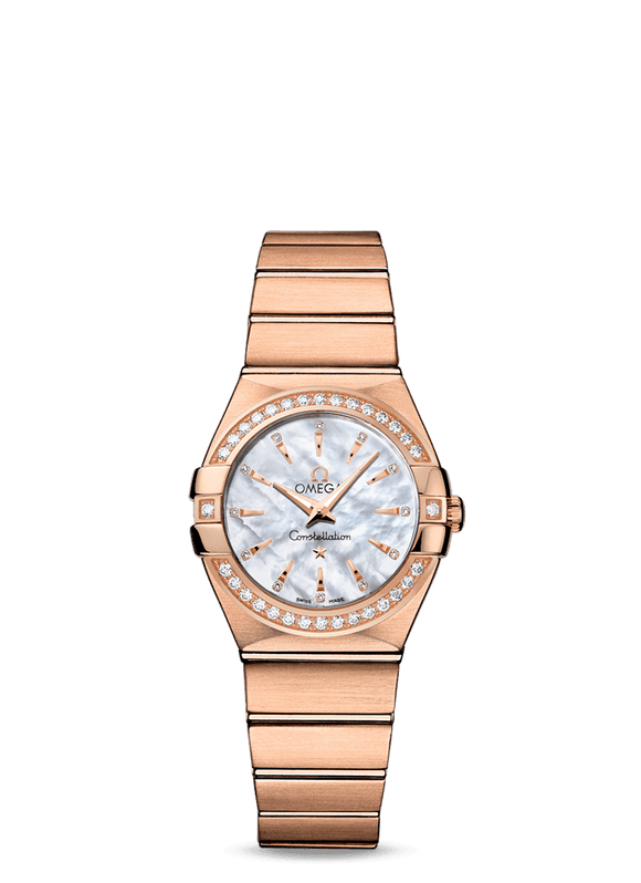 Omega Constellation Ladies 18kt Rose Gold 27 Diamonds Quartz - The Luxury Well