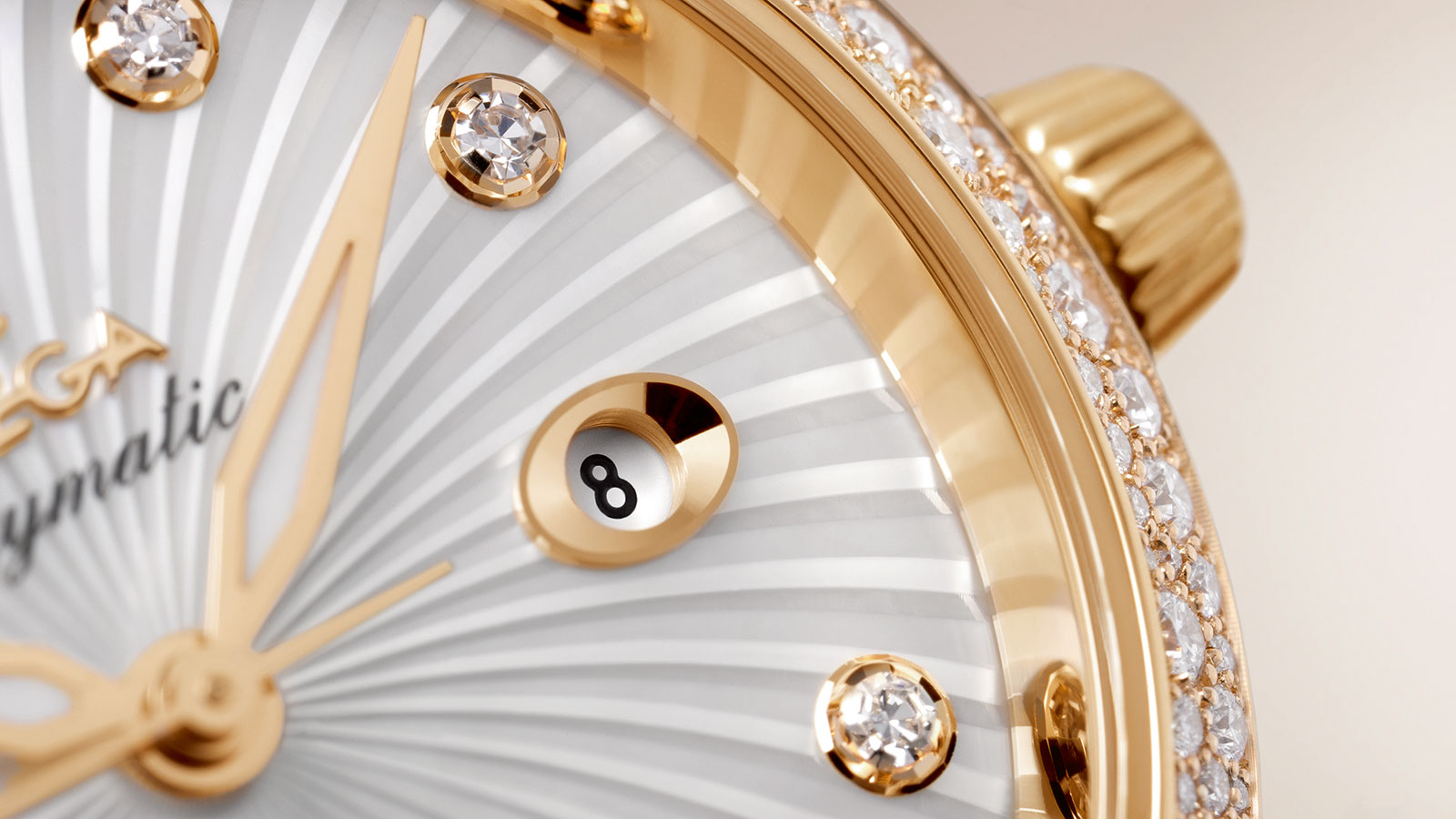 Omega DeVille Ladymatic Co-Axial 34mm 18kt Yellow Gold with Diamonds