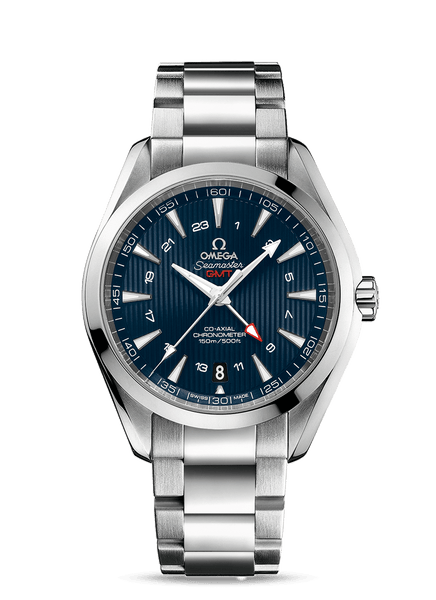 Omega Seamaster Aqua Terra GMT Blue CoAxial 43mm - The Luxury Well