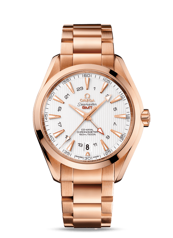 Omega Aqua Terra Co-Axial Red Gold GMT - The Luxury Well