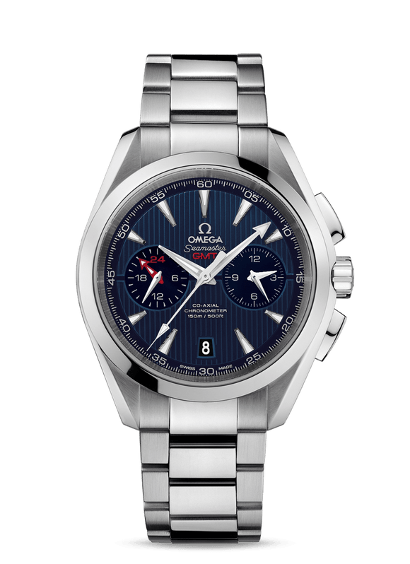 Omega Seamaster Aqua Terra 150m CoAxial GMT Chronograph 43mm - The Luxury Well