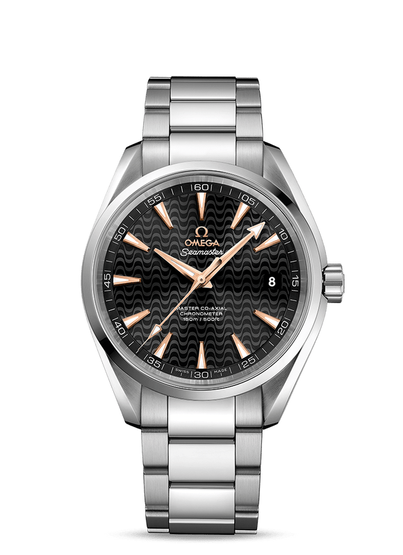 Omega Seamaster Aqua Terra 41.5 mm Black Wave Dial Gold Makers (Special) - The Luxury Well