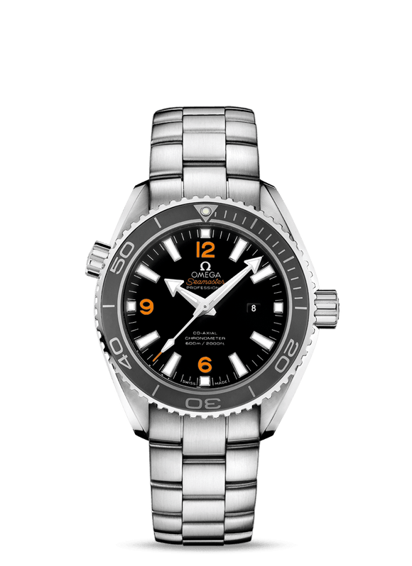 Omega Seamaster Planet Ocean Co-Axial Black 37.5mm - The Luxury Well